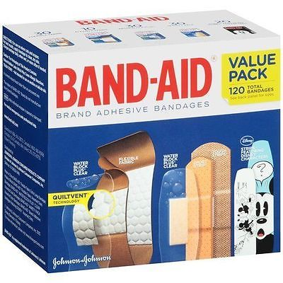 NEW Band-Aid Brand Adhesive Bandages Variety Pack120 Count HELP THE SMALL SELLER