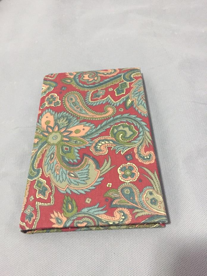 Vtg Dugan Paisley Blank Journal Notebook Made in 1990