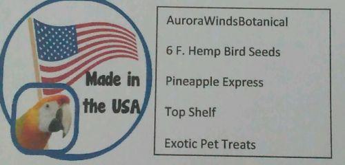 6 F. Hemp Bird Seeds Pineapple Express Pet Treats