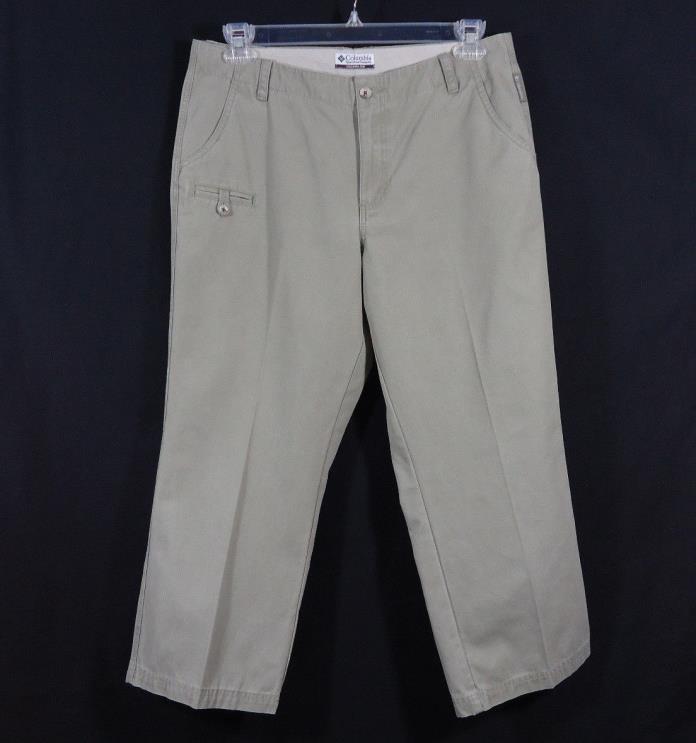 Columbia Capri Pants Size 12 Khaki Green Hiking, Outdoors, Casual, Walking, Work