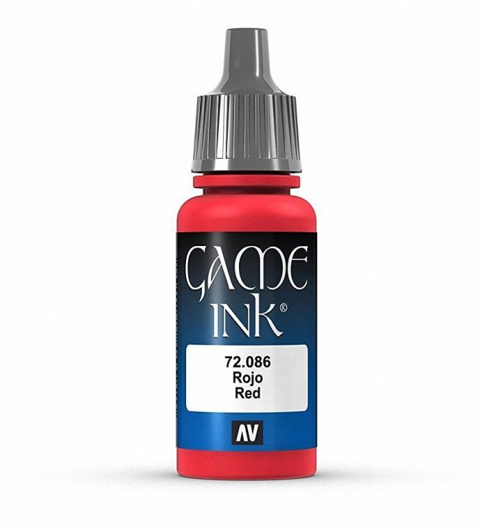 Brand New Vallejo Game Ink Paint 17ml Acrylic - Red 72.086