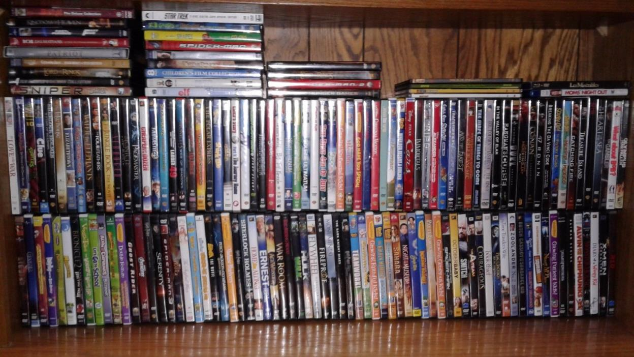 174 Empty DVD (2 blueray) Cases w Artwork-See Description