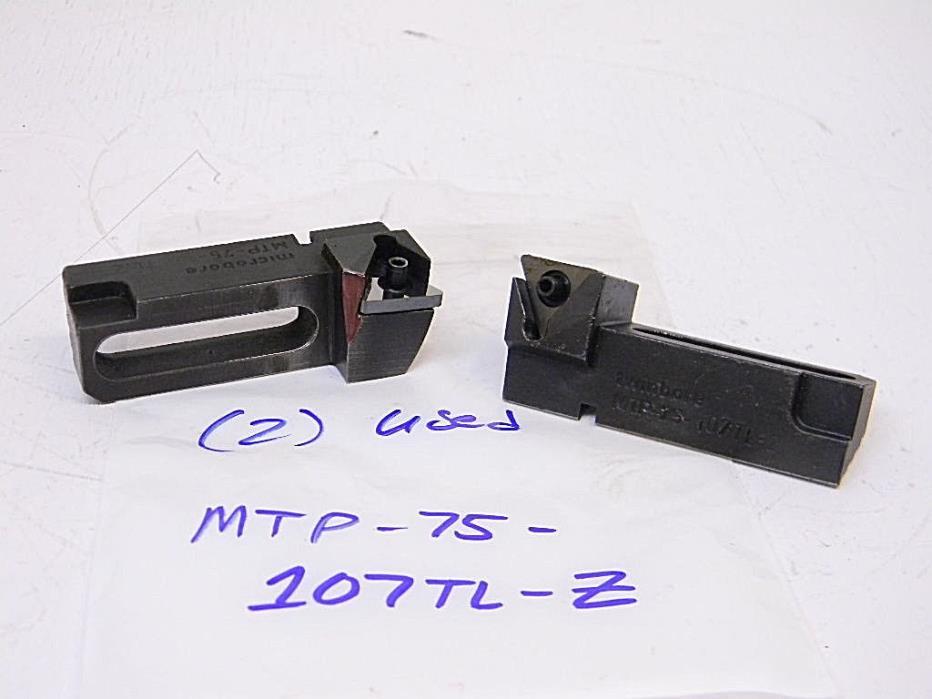 USED (2) DEVLIEG MICROBORE TWIN BORE SLIDES MTP-75-107TL-Z (TNMG 332)
