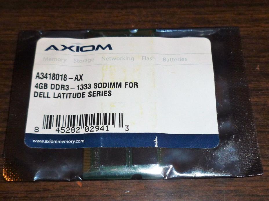 Axiom A3418018-AX 4GB DDR3-1333 SODIMM Dell Latitude E5410 E5510 E6410 E6410