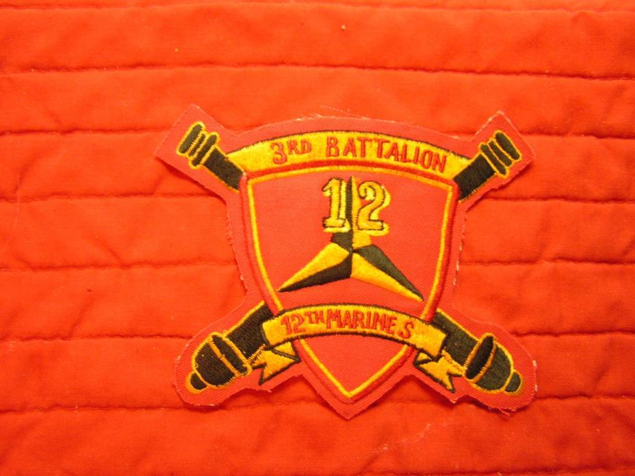 3RD BATTALION 12TH MARINES, 3RD MAR DIV, ARTILLERY  Vietnam  patch.
