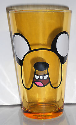 ADVENTURE TIME JAKE FACE 16 OZ. GOLD COLORED PINT GLASS NEW