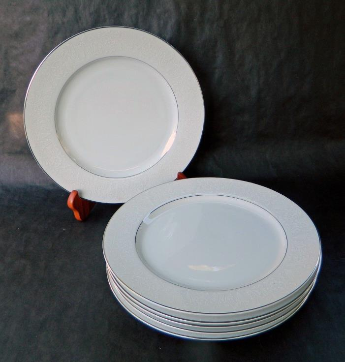 CROWN VICTORIA FINE China - LOVELACE -- (6) DINNER PLATES - 10 1/4