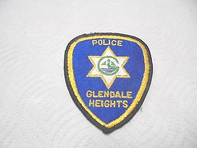 vintage cloth shoulder patch glendale heights police illinois