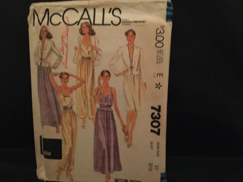 Vintage McCall's 1980 pattern #7307, size 10