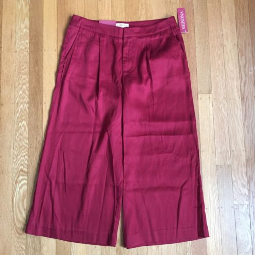 NWT Merona Women's Red Culotte Gaucho Pants Size 6R