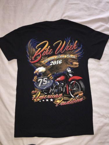 DAYTONA BEACH BIKE WEEK 2016 75Th Anniversary T-Shirt Small NWOT