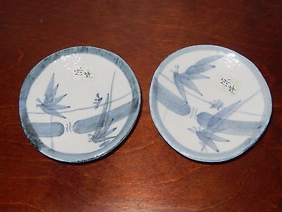 SET OF 2 ORIENTAL 3 FOOTED PORCELAIN BOWLS