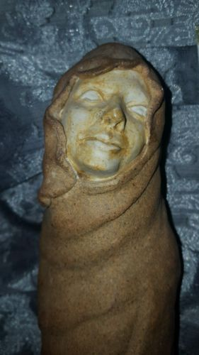 Creepy morbid sculpture oddities ghost outsider art pagan goddess statue wiccan