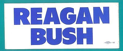 Presidential Campaign Bumper Sticker - Reagan Bush bumpersticker