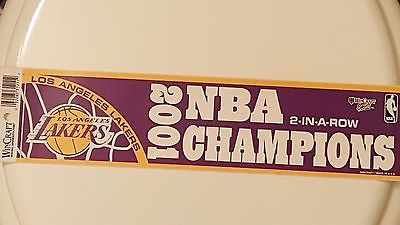 NBA Lakers 2001 NBA Champions 2-in-a-row Bumper Sticker
