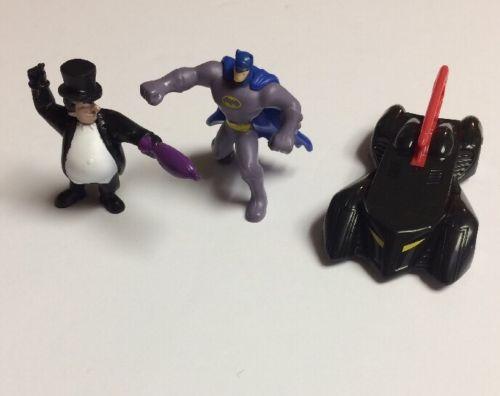 Batmobile Red & Black Figure 2011 DC Comics McDonalds Toy Batman And Penguin New