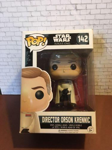 Star Wars Funko Pop Director Orson Krennic A Bobble Figure #142 Rogue One