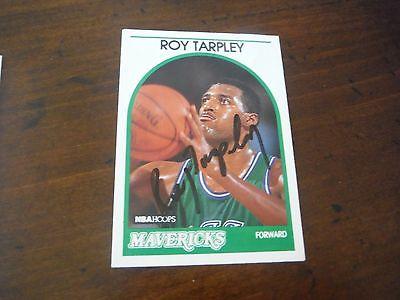Roy Tarpley Autographed NBA Hoops Dallas Mavericks