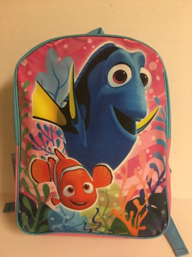 new with tag! Finding Dory Light Blue And Pink Backpack 15