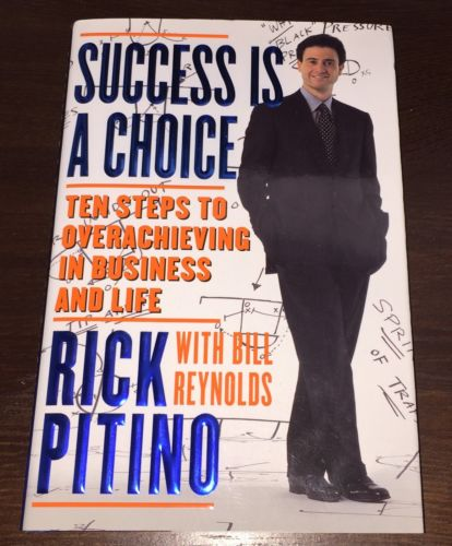 RICK PITINO Autographed Signed Book SUCCESS IS A CHOICE w/COA *RARE* 1st/1st HC
