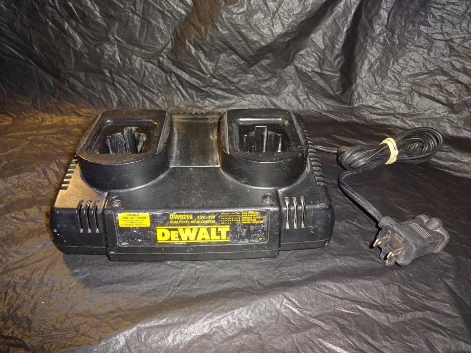DeWalt DW9216 18V Twin/Dual Battery 1 Hour Charger w/Automatic Tune-up Mode