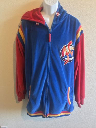Cybertek Harlem Globetrotters Star Player Vintage 90s velour Basketball Jacket
