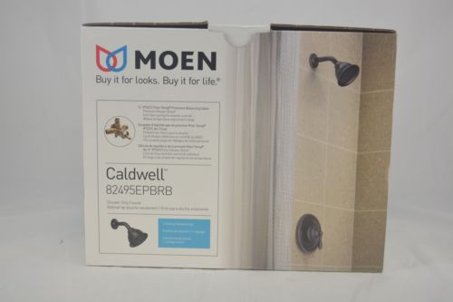 Moen Caldwell Mediterranean Bronze 1-Handle WaterSense Shower Faucet & Head 6086