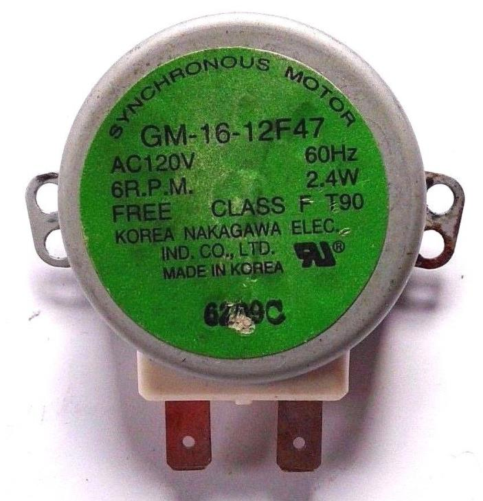 WHIRLPOOL MICROWAVE TURNTABLE SYNCHRONOUS MOTOR 8183954 PS391978 MH1150XMT4