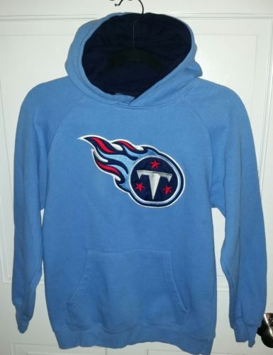 Tennessee Titans NFL blue embroidered hoodie sweatshirt.  youth M 10-12
