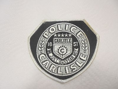 cloth shoulder patch carlisle police be just and fear not iowa