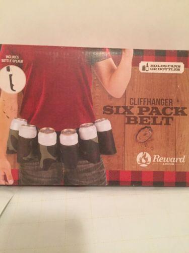 Reward Lodge Cliffhanger Six Pack Belt, NIB,  includes bottle opener, L@@K