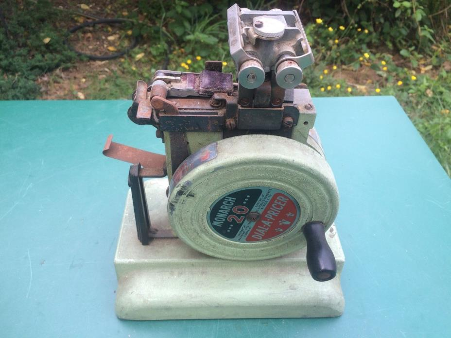 vintage Monarch 20 Marking System price tag ticket making machine.1940's
