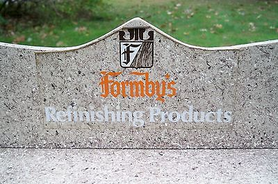Vintage store shelf advertising piece freestanding shelf Formby's products