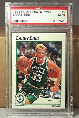 1991 HOOPS PROTOTYPES #9 LARRY BIRD PSA 9 MINT BOSTON CELTICS HOF