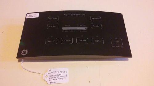 GE Dispenser control board w/ overlay part# WR55X10562
