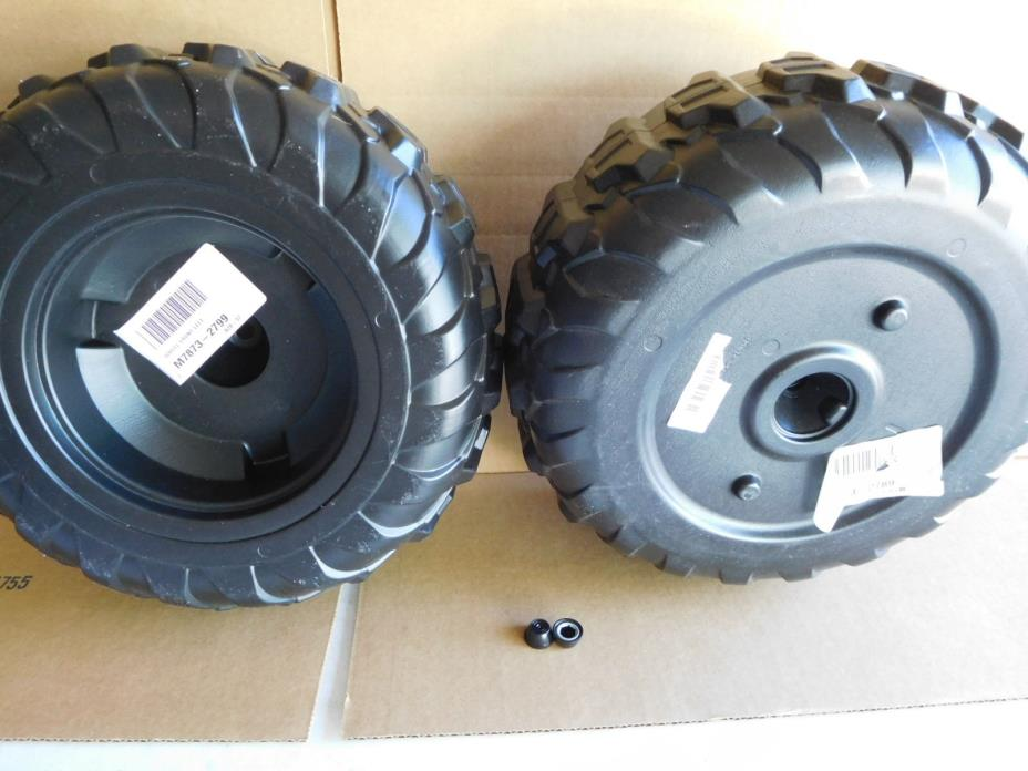TWO Power Wheels by Fisher Price M7873-2799 Tire One left Front, One right front