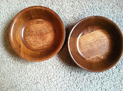 Set of 2 solid black walnut bowls from Kustom Kraft - made n the USA