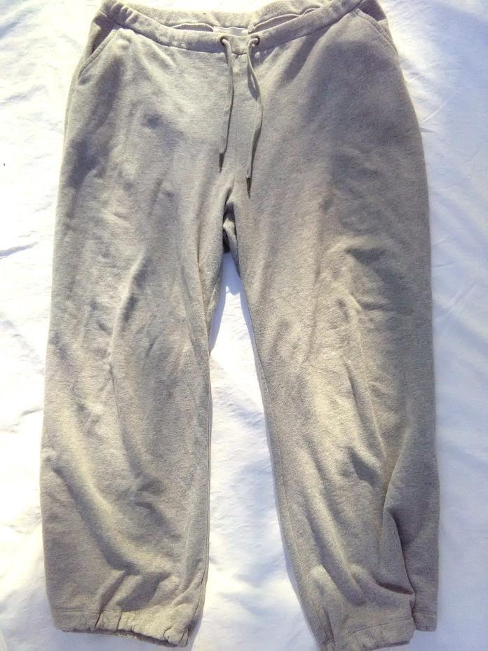 ANTHROPOLOGIE SATURDAY SUNDAY Womens Crop Sweat pants Lounge Zip Ankle Sz.Medium