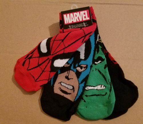 NWT 4 Pairs Low Cut Ankle Socks Marvel Spiderman Hulk Youth Boys Shoe Size 6-12
