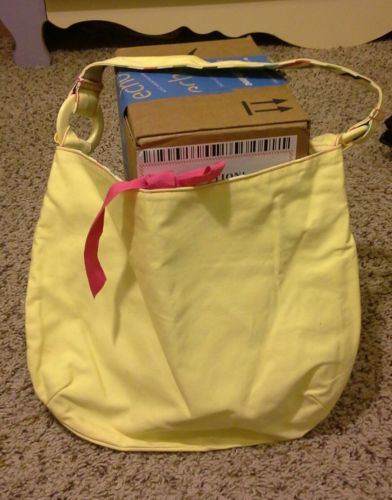 Target Girls Yellow Summer Purse With Small Inner Zip Pocket