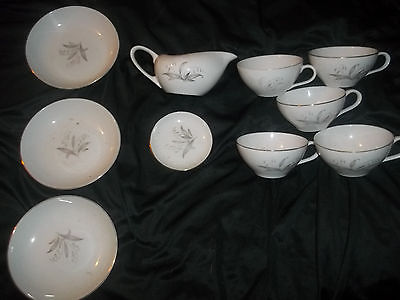(23) Vintage Kaysons 1961 China Plates Teacups Bowls Glass Dinnerware Piece Lot