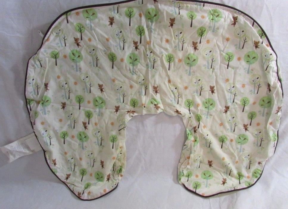 Original Boppy Pillow Cover Slipcover Classic Forest Trees Bears Nursing Support
