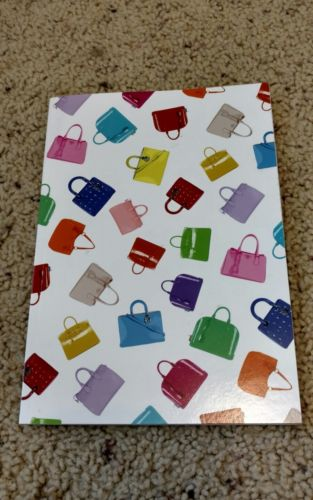 Blank pages paper notebook with designers' handbags cover - New
