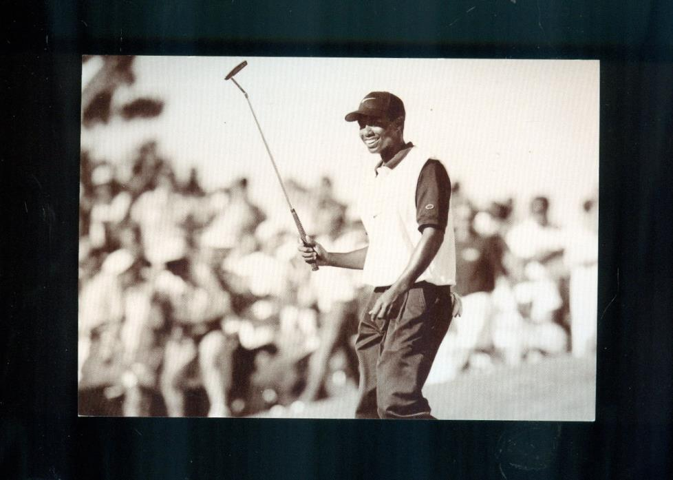 TIGER WOODS Wins Las Vegas Invitational, 1996 (News Bureau) Photo Postcard