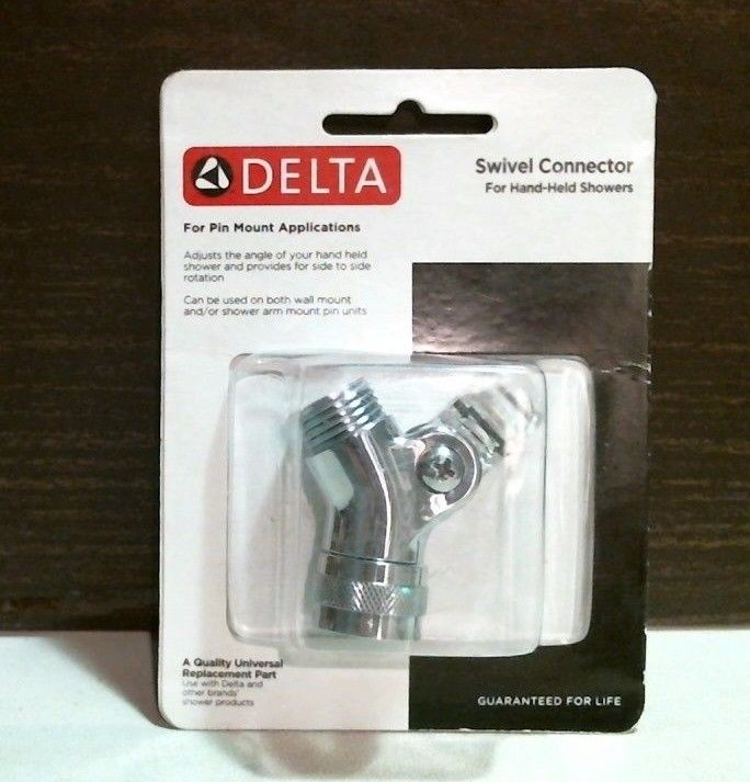 Delta 75016 Swivel Connector For Hand-Held Showers Pin Mount Chrome Finish FS