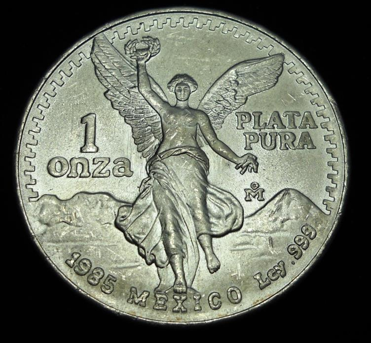 +++ Mexico 1985 Onza Bullion.  World - Foreign Silver Coin. FREE Shipping!