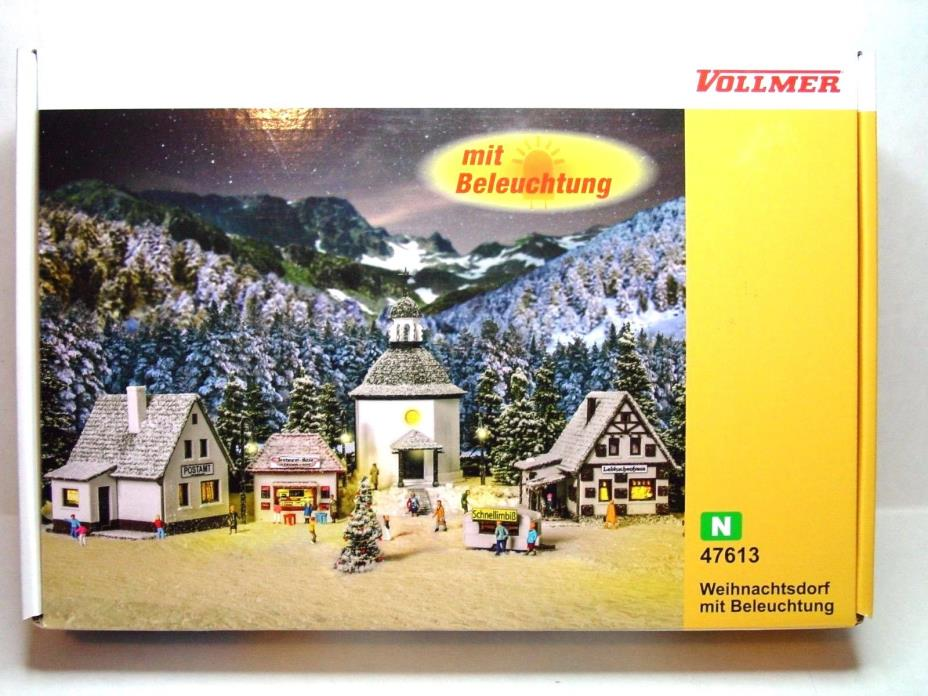 VOLLMER N SCALE CHRISTMAS/MOUNTAIN VILLAGE KIT 47613