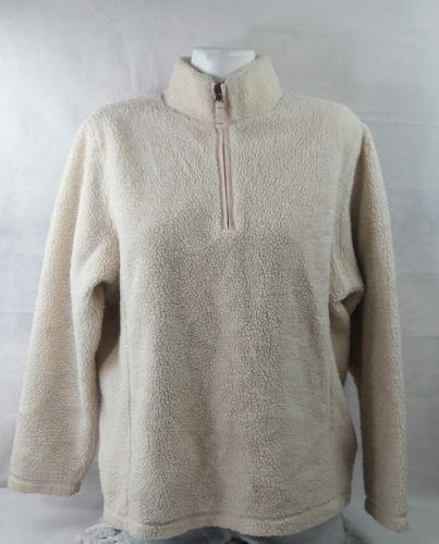Lands End Women's Sweater Long Sleeve Cotton Standing Neck Size Large Bin 22#21