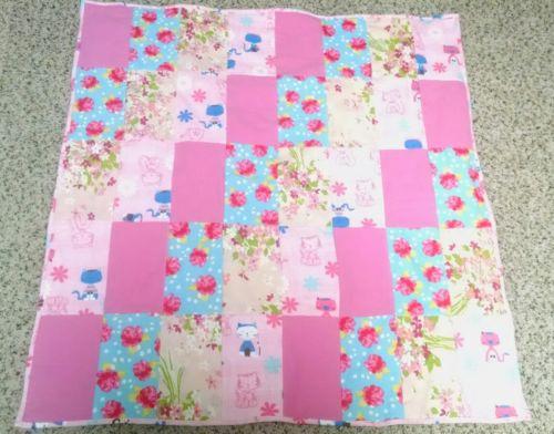NEW Homemade Baby Infant Quilt Blanket Kitty Cat Pink Girl