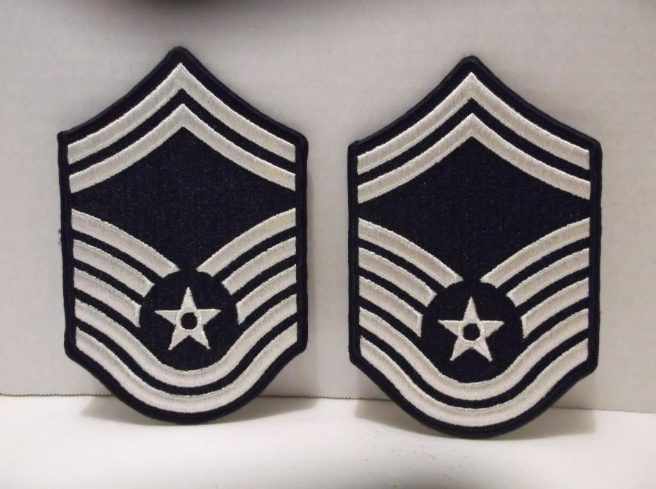 Senior Master Sergeant E-8 USAF US Air Force Patches